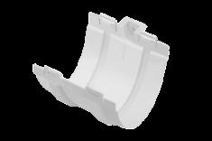 Муфта жёлоба ПВХ, цвет Белый